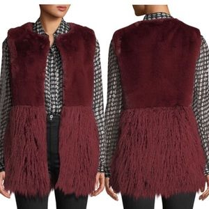 Love Token Faux-Fur Vest with Shag Hem
